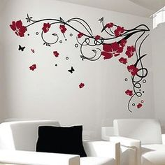 It used to be that wall decals or wall stickers, were sold primarily as an alternative to permanently Decoration Stickers, Diy Wall Stickers, Wall Decals, Diy Wall Decor For Bedroom, Bedroom Wall Designs, Simple Wall Paintings, Lavender Walls, Wall Art Crafts, Wall Painting Decor