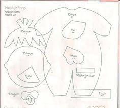 Babies Part 2 of 2 Jeannine Paper Piecing Patterns, Felt Patterns, Baby Patterns, Baby Crafts, Felt Crafts, Girl Dolls, Baby Dolls, Felt Quiet Books, Felt Toys