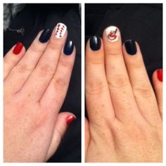 Home opener nails #cleveland #indians @Cleveland Indians