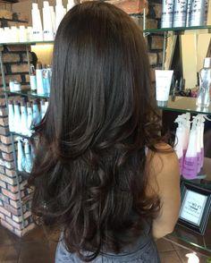 Corte de pelo en capas largas