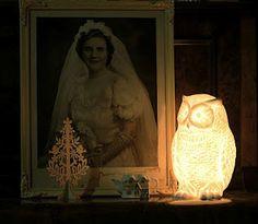 Horn Owl Lamp #owl #lamp
