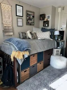cute dorm room ideas that you need to copy right now 14 ✔. cute dorm room ideas that you need to copy right now 14 cute dorm room i College Bedroom Decor, Cool Dorm Rooms, College Dorm Rooms, College Life, Dorm Life, Guy Dorm Rooms, College Dorm Bedding, Dorm Room Themes, Dorm Room Layouts