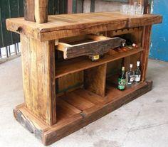 Muebles rusticos de madera buscar con google rustico for Bar rustico de madera nativa
