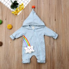 Sweet Dreams Rainbow Hooded Star Pajamas from kidspetite.com!  Adorable & affordable baby, toddler & kids clothing. Shop from one of the best providers of children apparel at Kids Petite. FREE Worldwide Shipping to over 230+ countries ✈️  www.kidspetite.com  #baby #clothing #pajamas #newborn #boy #infant Toddler Boy Outfits, Toddler Boys, Kids Outfits, Rainbow Cloud, Rainbow Baby, Rainbow Star, Long Romper, Long Sleeve Romper, Baby Girl Pajamas