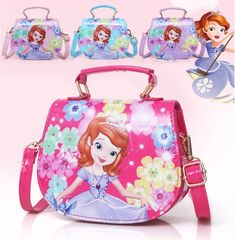 ece3dbed0c1d 2018 New Girls Cute Shoulder Bag Children Cartoon princess Handbag Kids Mini   Unbranded  ShoulderBag