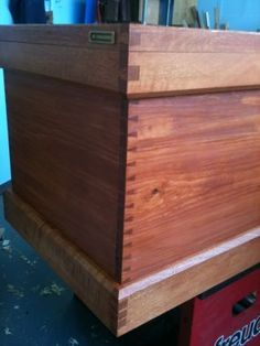 Beautiful jigged dovetails on this chest.