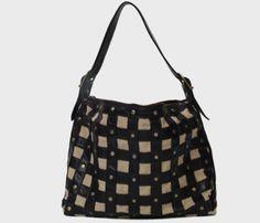Love this gridded, studded bag!