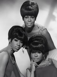 The Marvelettes (clockwise from top) Gladys Horton, Wanda Rogers & Katharine Anderson.