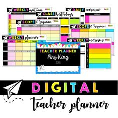 Digital Teacher Planner This bright and useful digital Teacher Planner uses Google Slides. It is editable and easy to use to help teachers stay organised and paperless all year. Google Drive makes it easy to access and edit your Teacher Planner anywhere - at home, school or