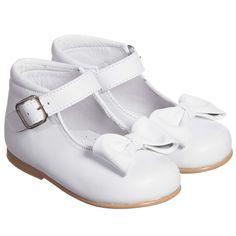 Children's Classics - Girls White Leather Shoes Childrens...