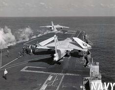 carrier launch of an A-3 Skywarrior
