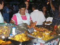 Fritanga- All that food, parque Panamericano Cali Colombia, street food