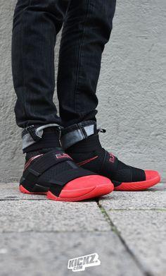 buy online 55bd2 95389 The Nike LeBron Soldier X drops in a fresh clean Black University-Black  colorway.