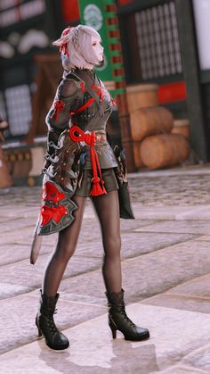Final Fantasy Female Characters, Final Fantasy Artwork, Final Fantasy Xiv, Fantasy Warrior, Anime Outfits, Fashion Outfits, Female Armor, Game Character Design, Ecchi