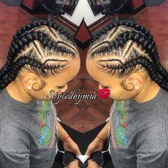 Feeding braids $65 Philadelphia @styledby_mia