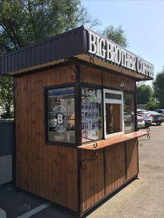 Kedai Small Coffee Shop, Coffee Store, Coffee Cafe, Container Coffee Shop, Container Shop, Container Design, Cafe Shop Design, Kiosk Design, Restaurant Interior Design