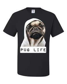 Pug Life Funny T-Shirt Thug Life Parody Tee Shirt Pug by ngtshop