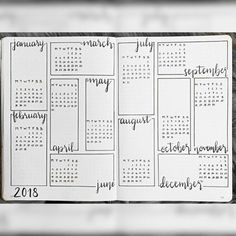 journal year at a glance, bullet journal future log. journal year at a glance, bullet journal future log. Bullet Journal School, Future Log Bullet Journal, Bullet Journal 2019, Bullet Journal Notebook, Bullet Journal Spread, Bullet Journal Inspo, Bullet Journal Ideas Pages, Bullet Journals, Bullet Journal Year At A Glance Ideas