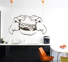 Pair Of Hands Holds Fast Food Vinyl Decals Wall by VinylDecals2U, $25.99