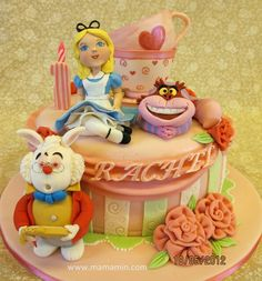 Alicia en el país de las maravillosas cake ♥