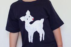 DIY - Oh Deer Christmas T-Shirt #kids #christmas #craft