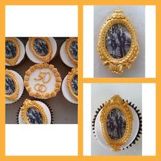 Cupcakes met fotoframe