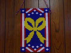 SUPPORT OUR TROOPS BEADED BANNER PDF PATTERN ONLY