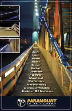 #Paramount #StardusterLED #LEDLuminaires #MarketStreetBridge #WetLocationLighting #PublicLighting #HarshEnviromentLighting #BridgeLighting #PedestrianLighting #WalkwayLighting Ohio River, Industrial Lighting, West Virginia, Railroad Tracks, Public, Marketing, Education, Learning, Light Fixture