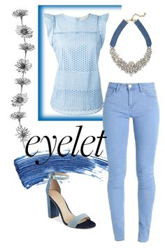 """""""blue eye"""" by mickialaandrea on Polyvore featuring Eyeko, MICHAEL Michael Kors, GUESS and BaubleBar"""
