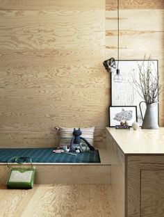 plywood bed - styling Petra Bindel