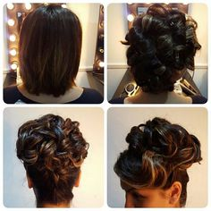 Who says those with short hair can't have an updo??? #prettyful #prettyfultoronto #torontohairartist #shorthairupdo #updo #bridal #bridalupdo