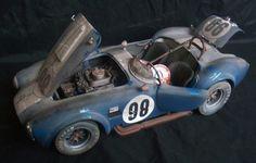 Shelby Cobra 427 S C Racing Barn Find Custom Weathered Unrestored Kyosho 1 18 Funny CarsBarn
