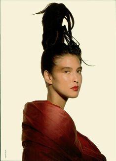 Vogue Italia Speciale February 1988   Rossetti ad effetto scultura photographer: Steven Klein hair: uncredited makeup: Alberto Fava model: Monica Gripman