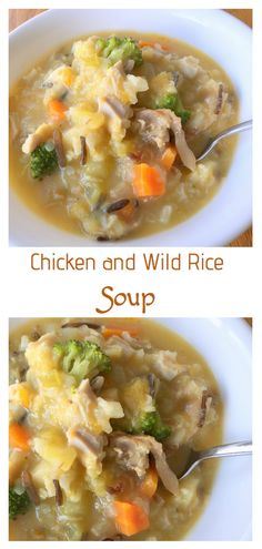 A creamy chicken soup loaded with vegetables. So warm and filling, perfect for a cold day.