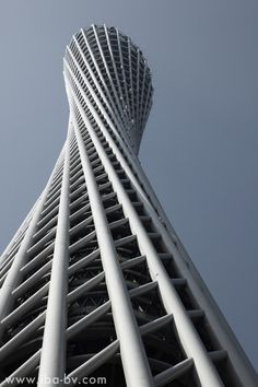 Canton Tower in Guangzhou, China by Information Based Architecture. Currently the 2nd tallest tower in the world. Art And Architecture, Architecture Moderne, Sustainable Architecture, Beautiful Architecture, Futuristic Architecture, Contemporary Architecture, Residential Architecture, Computer Architecture, Installation Architecture