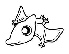 Dibujo de Pterodáctilo bebé para colorear