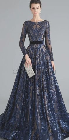 Sparkle long sleeves a-line long prom dresses sd chicsew Prom Dresses With Sleeves, A Line Prom Dresses, Prom Dresses Online, Mermaid Prom Dresses, Cheap Prom Dresses, Sleeve Dresses, Beach Dresses, Evening Dresses, Beaded Gown