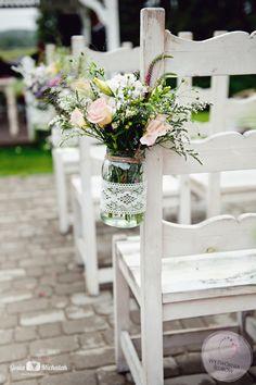 ślub w plenerze dekoracje Portfolio, Table Decorations, Boho, Furniture, Home Decor, Weddings, Decoration Home, Room Decor, Wedding