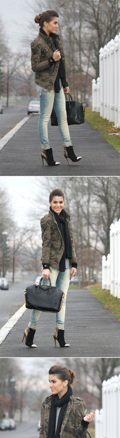 Jaqueta: Zara / Suéter: Forever21 / Jeans: SMK Denim / Bota: Schutz (NYC) / Cachecol: TJMaxx / Bolsa: Givenchy