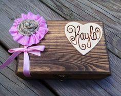 Bridesmaid Gift Box  ONE Personalized by shabbyweddingdecor, $25.00