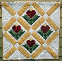 Hearts mini quilt.