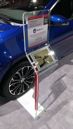 Toyota iPad Wheelstands - 2014 on Behance Digital Kiosk, Digital Signage, Exhibition Stall, Exhibition Stand Design, Tablet Stand, Ipad Stand, Point Of Sale, Tv Rack, New Ipad Pro