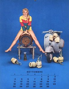 Vespa Calendar page from 1960