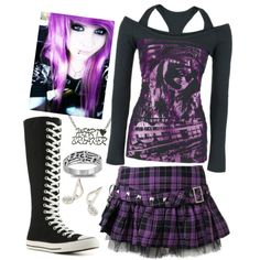 """I want those converse and skirt! """"I Just Don't Have The Courage That It Takes To Be Real"""" by i-will-drown-in-the-fear on Polyvore"""