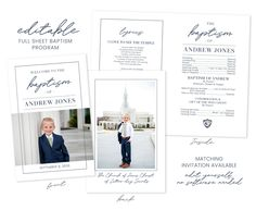 gallery photo Lds Baptism Program, Baptism Invitation For Boys, Baptism Invitations, Diy Invitations, Baptism Announcement, Boy Baptism, Baptism Ideas, Confirmation Gifts, Text Pictures