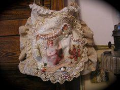 Shabby Victorian Chic Purse vintage doily by TatteredDelicates