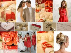 The Perfect Palette: {Step into the Unexpected}: A Palette of Coral, Taupe, Ivory & Gold!