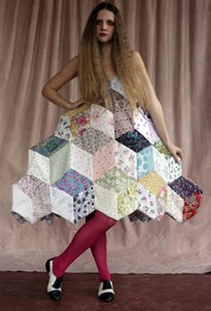 An interesting take on quilted patchwork from Barbara Brackman's MATERIAL CULTURE: Random Thoughts on Patchwork Clothing