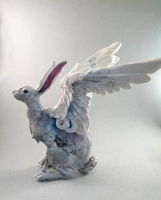 Blue Hare by creaturesfromel on Etsy