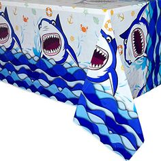 Shark Party Games Shark Party Supplies Pin The Teeth on The Shark 15PCS Teeth for Shark Theme Kids Under the Sea//Pool//Beach Birthday//Baby Shower Party Supplies Decorations